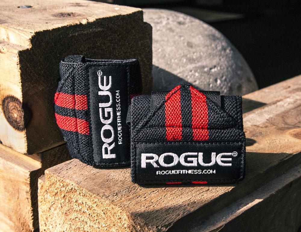 9-rogue wrist wraps red&black-8.5 KD (S)